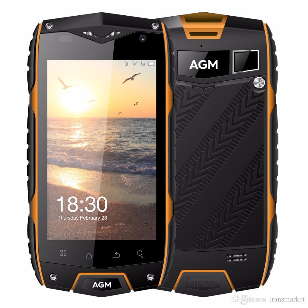 AGM A7 Mobilephone 4.0 Inch 2GB RAM 16GB ROM Cellphone MSM8909 Quad Core Mobilephone 2930mAh Big Battery IP68 Waterproof Mobile Phone Newest