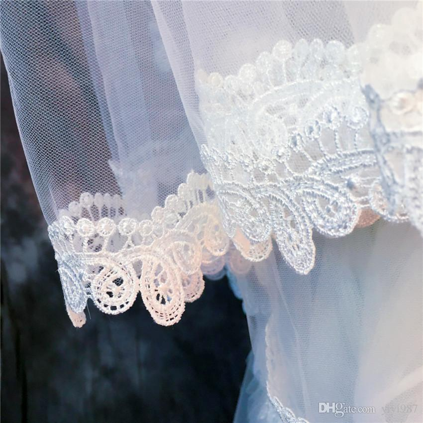 Wholesale Veils Real photos Purple White Veils for Bridal Ivory good Tulle Fast out Wholesale Veils