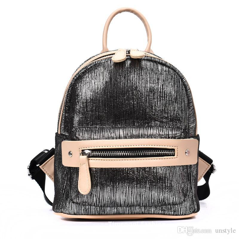 UNstyle Cool Casual Bright Laser Backpacks Personlized Patchwork ...