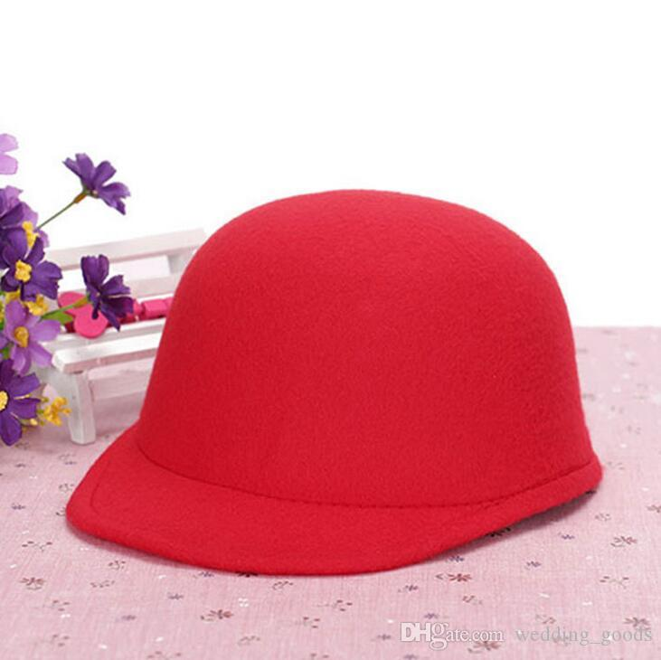 New Autumn and winter Casual hat ladies dome imitation wool wool felt hat cute ceremony cap WMB006
