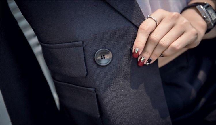 2017 Korean style causal business suit long pants women two Piece suit slim clothes plus size