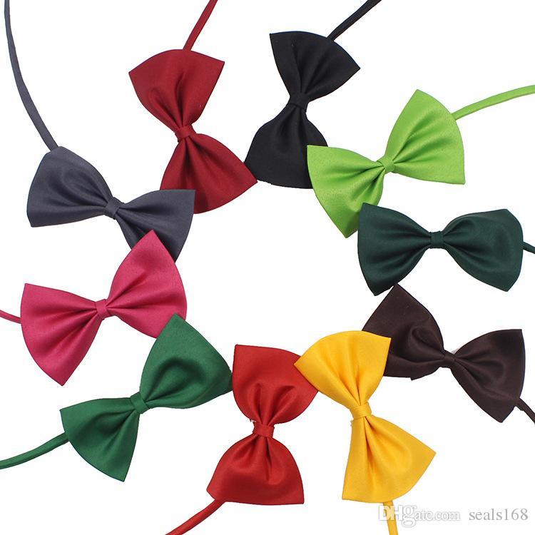 Ajustável Pet Dog Bow Tie Neck Colar Colar Collar Cor Brilhante Pet Bow Mix Cor HH7-302