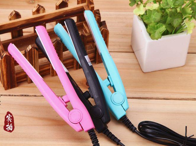 Professionelle Elektrische Mini Haarglätter Kleine Nette Effiziente Elektrische Haarglätter Elektrische Schiene Ionen Perm Portable