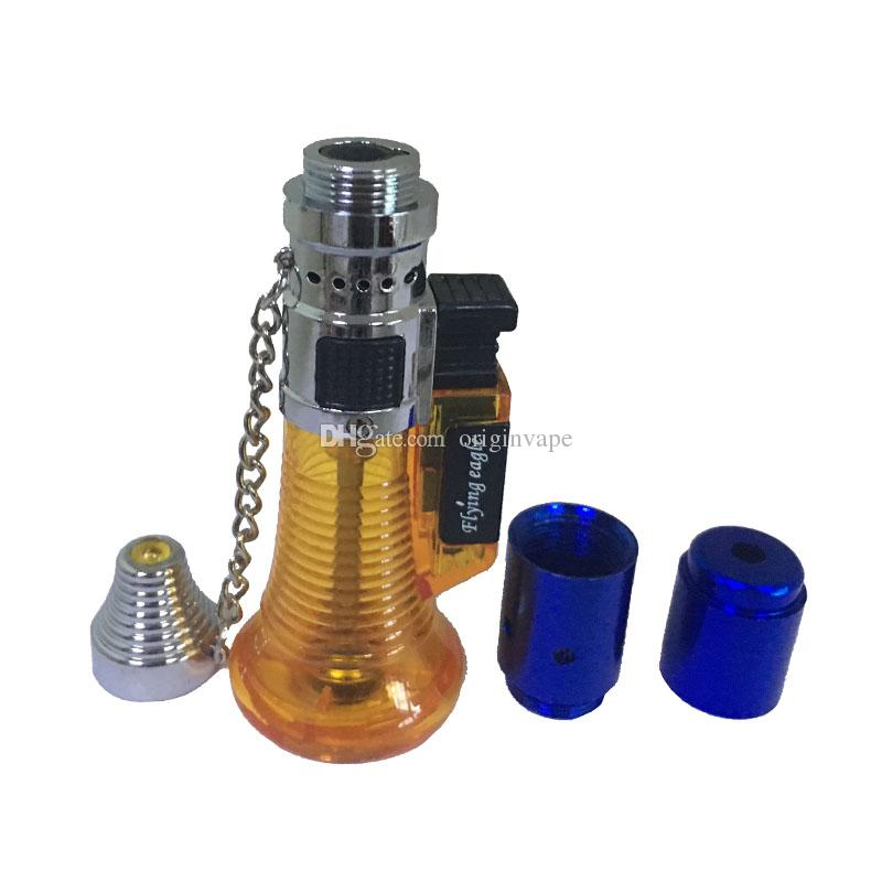 Newest Smoking Click N Vape Dry Herbal Vaporizer Sneak Toke Burner Lighter Torch Wax Pipe Filter multi Colors DHL