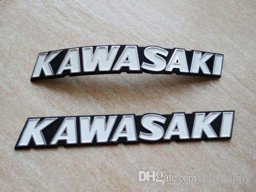 Motorcycles Metal Petrol Oil Tank Emblem Decal Sticker For - Kawasaki motorcycles stickers