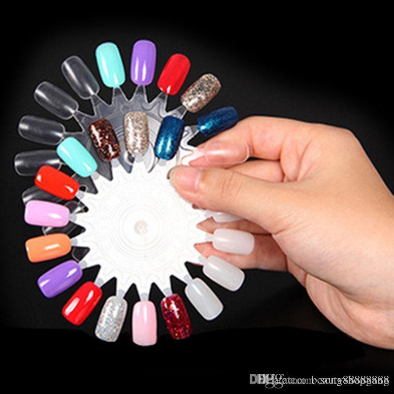 False Tips Display Nail Art Acrylic Practice Uv Gel Nail Polish ...
