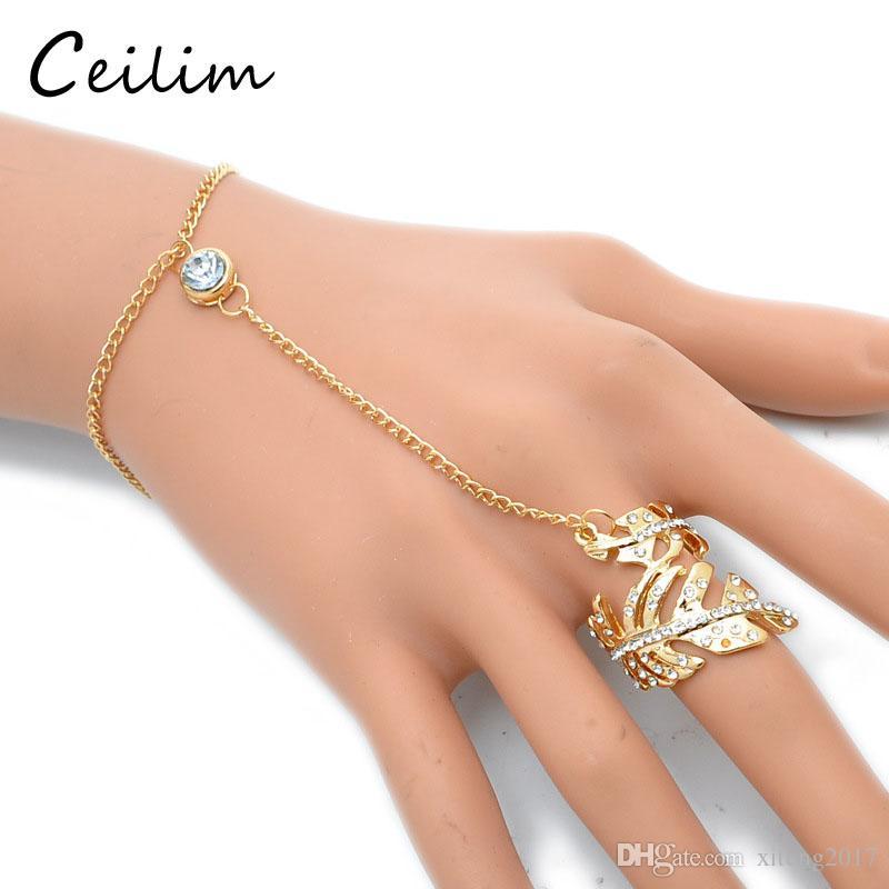 e13dab60f17c 2017 anillos de pulseras de moda juego de joyas de aleación de plata  chapado pulseras de oro para las mujeres simples anillos de la hoja en  forma de fiesta ...