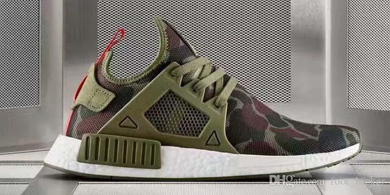 With shoes Box10 Colours Hot Sale NMD XR1 Men And Women Duck Camo Pack White Grey BA7233 Kids Casual Shoes