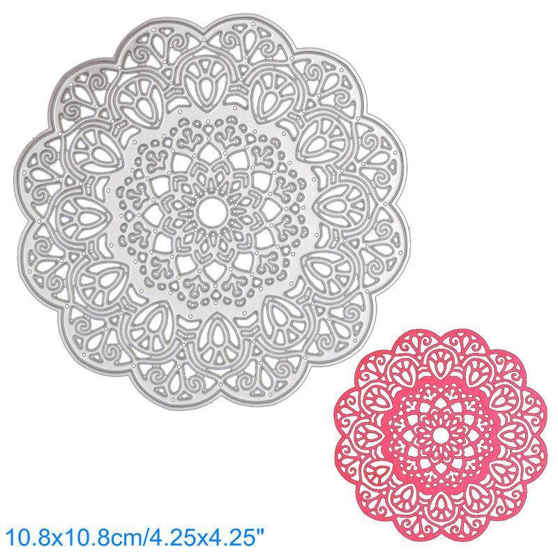 Scrapbooking Embossing Stencils & Folders Lace Flower Metal Cutting Dies Stencil Scrapbooking Cards Die-Cut DIY Crafts