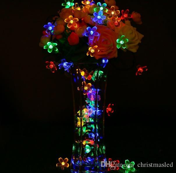 9m 50 LED 8 modes flowers Solar String Light Waterproof Christmas Celebration Decoration Mixed Color party String Lights holiday
