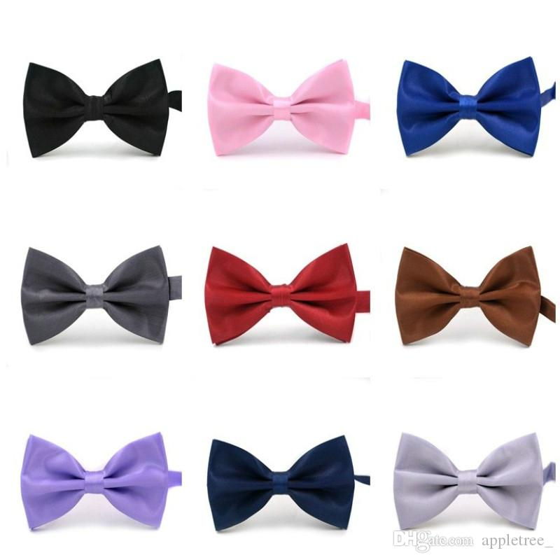7dc3bb79bfec Black Red Purple Bow Tie Bowties For Men Wedding Party Women Neckwear  Children Kids Boys Bow Ties Mens Womens Fashion Accessories Wholesale  Necktie Bowties ...