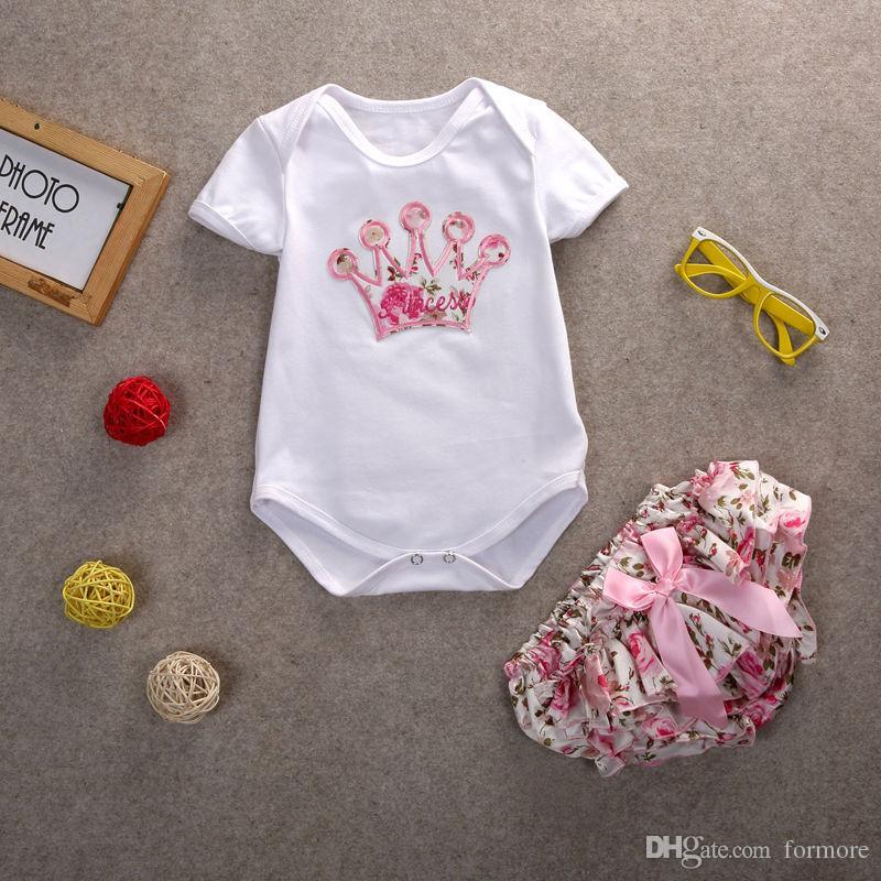 Nouveau-né enfants boutique vêtements mignonne bébé filles Robe Infantil barboteuse ensemble coton Tops Barboteuses Floral Pantalon Tenues ensemble de vêtements
