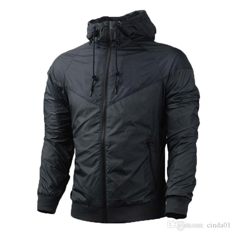 Moda nuevos hombres mujeres chaqueta primavera otoño otoño ropa deportiva casual rompevientos con capucha con cremallera abrigos