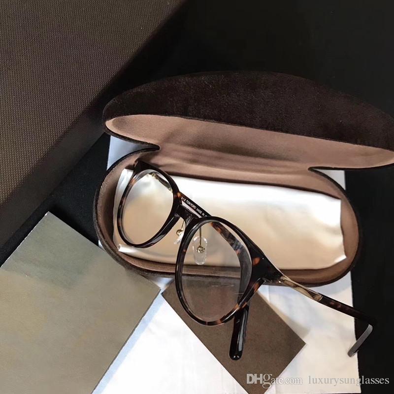 5473 패션 럭셔리 광학 안경 타원형 모양 레트로 빈티지 남자 여성 디자이너 원래 패키지 전체 프레임 안경 Wayferer 모델 케이스