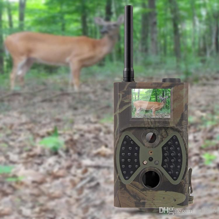 Trail Hunting Camera Photo Trap MMS SMS GSM GPRS 12MP HD Wild Camouflage Vedio Game Cameras with IR LEDs