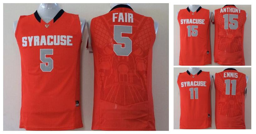 f3151c08244 2017 Cheap Wholesale Mens College Syracuse Orange 15 Camerlo Anthony 11  Tyler Ennis 5 C.J. Fair Men Jerseys Football Jerseys 15 Camerlo Anthony 11  Tyler ...