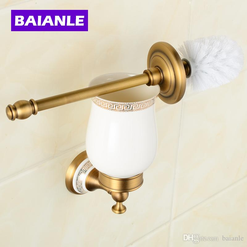 2018 Hot Sell Wall Mounted Bathroom Accessories Brass U0026 Ceramics Toilet  Brush Holder,Chrome Bathroom Products From Baianle, $61.08 | Dhgate.Com