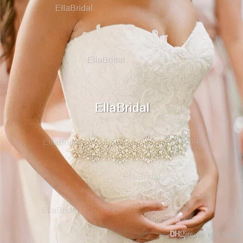 Hot Best Selling Pretty Sashes For Wedding Rhinestone di cristallo Cintura in rilievo Cintura da sposa Abiti da sera adatti Nuovi accessori da sposa