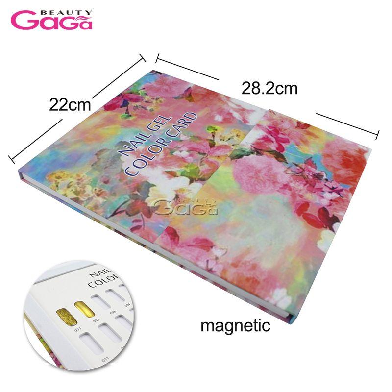 BeautyGaGa Nail Tips Display Color Chart Nail Art Salon Manicure Pedicure Tools UV Gel Polish Color Book