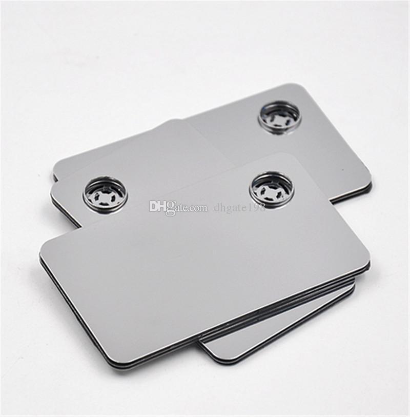 Cartão de crédito fumar cachimbo de metal para o click n vape pulseira cachimbo para tabaco sneak a toke moedor Cachimbo