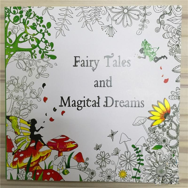 Fairy Tales And Magical Dreams Coloring Book For Adult Kids ...