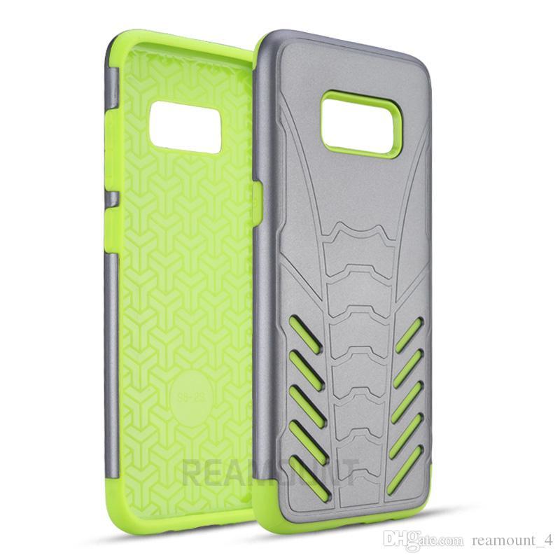 Atacado armadura tpu + pc híbrido resistente telefone case para samsung s7 s7 borda tampa traseira de borracha protetora phone case para samsung s8