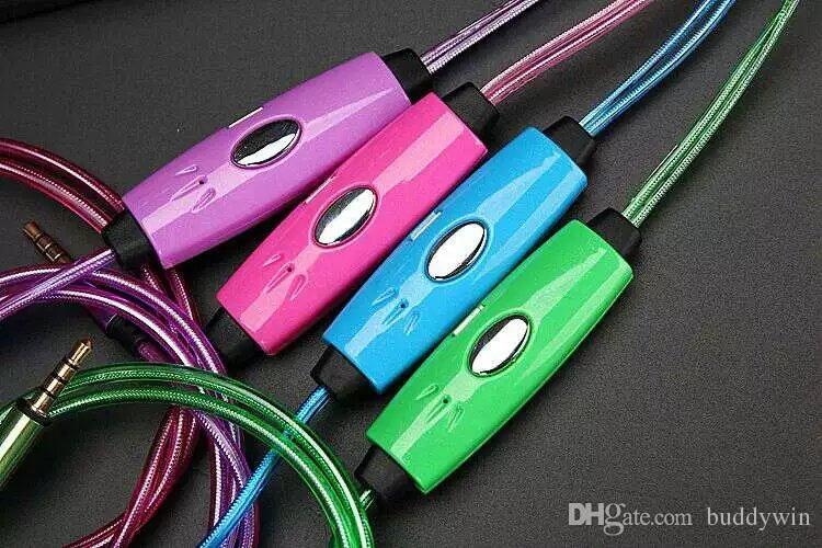 LED 이어폰 보이기 쉬운 EL 흐르는 LED 조명 in-ear 헤드폰 전화 아이폰에 대 한 휴대 전화 삼성 전자 6 6S S6