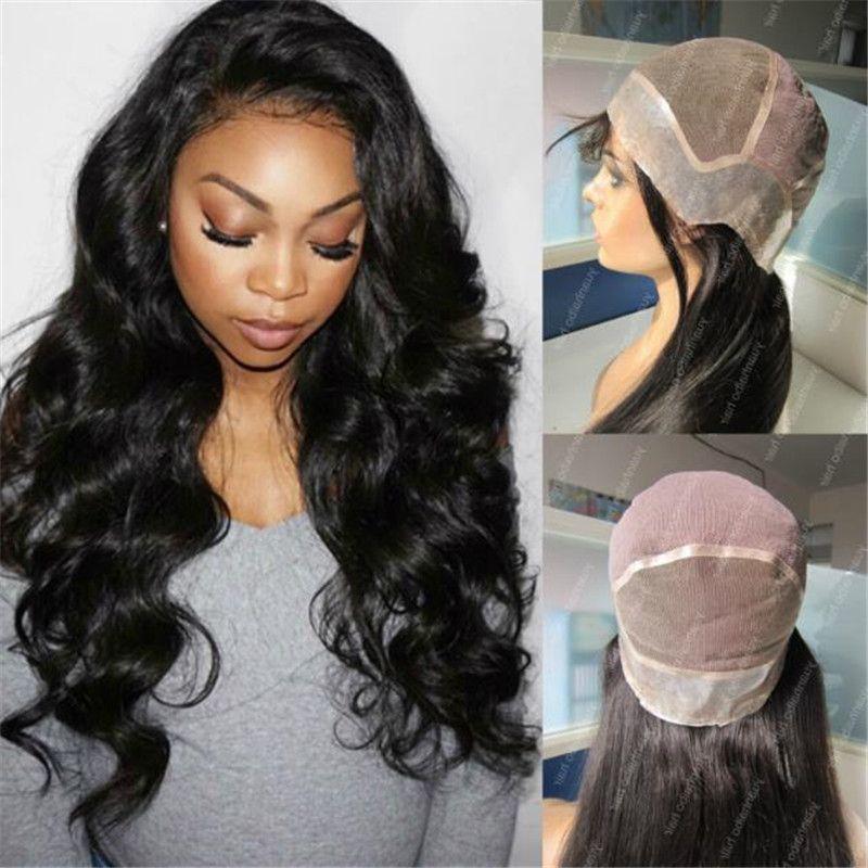 Popular Pu Around Wig 1b Loose Wave 100 Human Hair Malaysian Thin Skin  Perimeter Full Lace Wig Synthetic Full Lace Wigs Under 100 Glueless Silk  Top Wigs ... 0019491b2