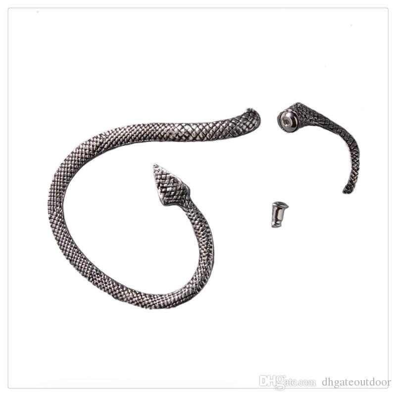 En gros De Mode Tentation Serpent Serpent Boucle D'oreille Gauche Argent Sexy Ficelle Du Vent Tentation Longue Serpent Serpent Boucle D'oreille Femmes Bijoux Gratuit DHL