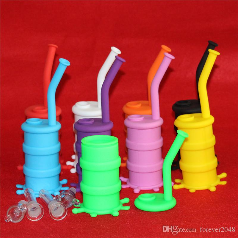 smaller silicone dab mat Silicon Rigs Water pipe Silicone Hookah Bongs Silicon Dab Rigs Cool Shape good quality and DHL