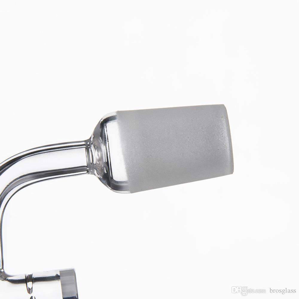 4 Schlitze Grail Banger Nagel 4mm dicke Basis Hybrid Quarz Domeless Nagel Banger Graile geschlitzt Kristall 10/14 / 19mm