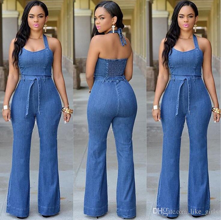 Buona A ++ Jeans di moda grandi donne Sottili pantaloni siamesi casuali con cintura NJ021