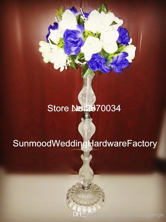 Tall Acrylic Crystal Wedding Centerpieces Flower Stand For Decoration Party Kits Lights From Sunmoodweddingprops