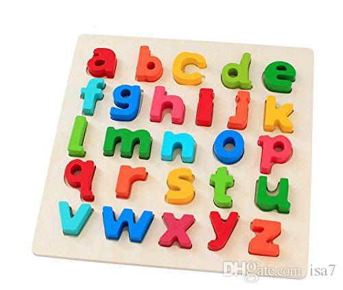 26 Letter Wooden Peg Puzzles Alphabet Early Educational ...