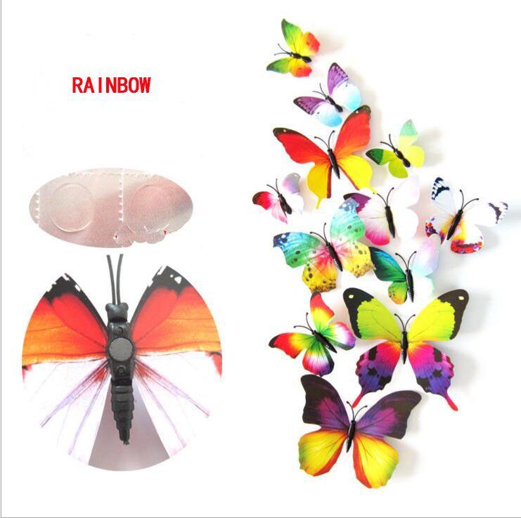 Butterfly Decorazione Eco-Friendly Cenerentola farfalla 3D adesivi murali farfalle farfalla in PVC Wall Stickers Butterflys rimovibili