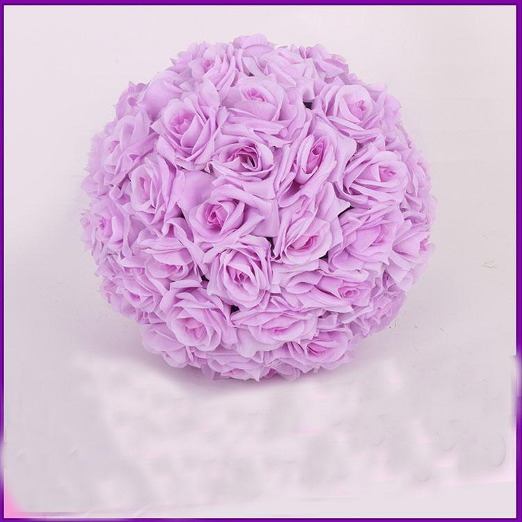 Tessuto Fiori artificiali Seta Rosa Pomander Festa di nozze Decorazione della casa Baci a palla Fiore di simulazione di colore Diametro del fiore 25 cm