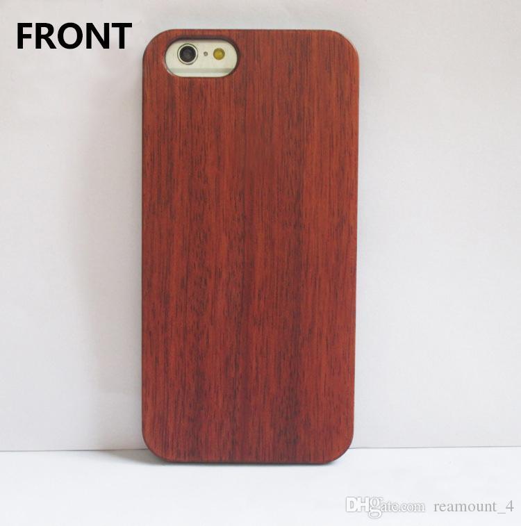 Großhandel anpassen Logo DIY-Qualitäts-Holzschnitzerei Handy-Fall für iPhone 6 6 Plus Weiß Maple Holzetui