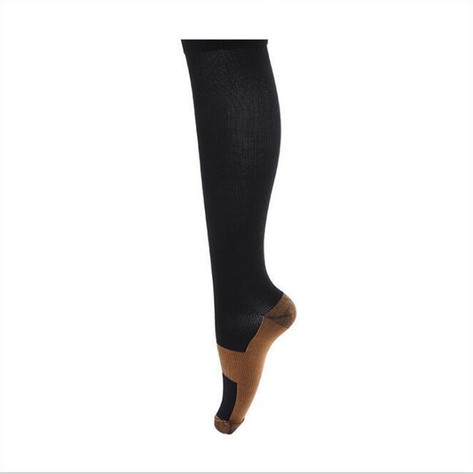 الجملة-- ضغط الجورب الساق الساق النوم الدوالي الفخذ العليا للرجال والنساء جودة عالية اللون الأسود instock