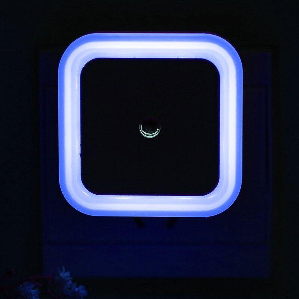 sensor led night light 0.5W Plug in LED Night Light Lamp with Sensor, White,blue,red,