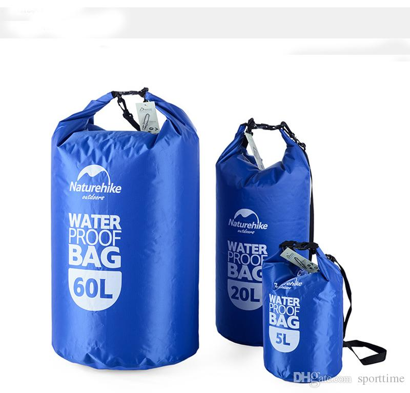 Outdoor Travel Clothing Waterproof Bag With Transparent Window Waterproof Bag Bucket Sealed Beach Swimming Bag 5L/20L/60L