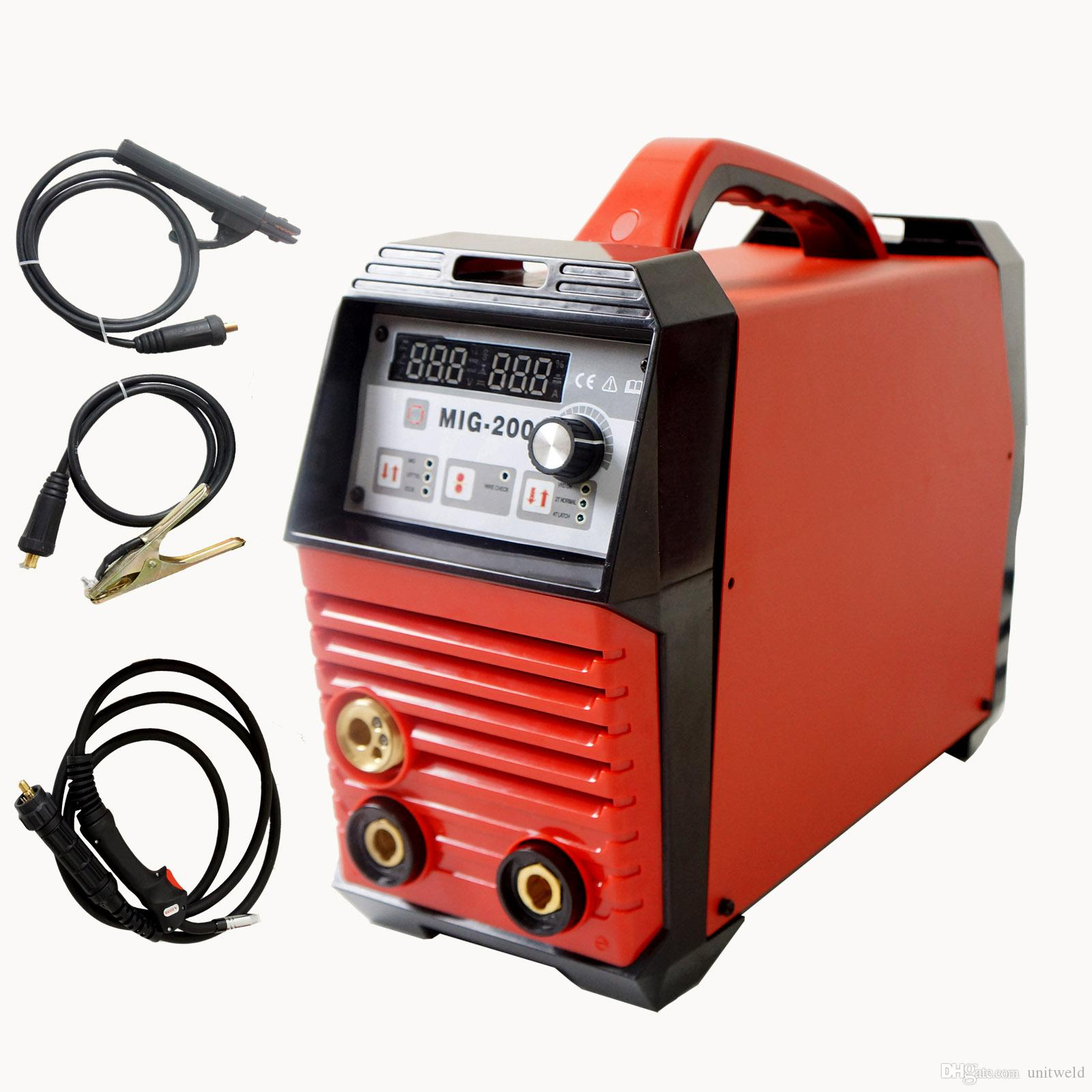 Compre Mig 200a Mquina De Solda Inversores Mag Arc Lift Tig Wiring A Welder Gas Gasless Flux Cored Wire Solid Core Unitweld