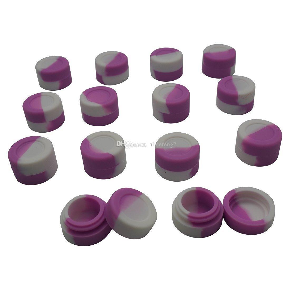 Armazenamento de silicone FDALFGB para vaporizador vape Preço de atacado O promocional FDA aprovado recipiente de borracha de silicone não-stick personalizado