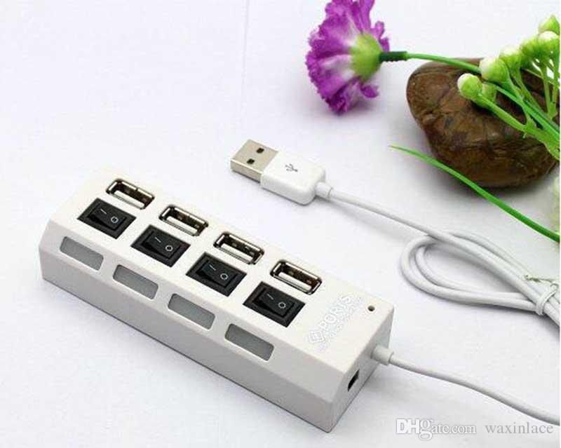 Mini 4 Ports USB 3.0 Hub High Speed Portable USB Hub With On/Off Switch USB Splitter Adapter Cable For PC Laptop