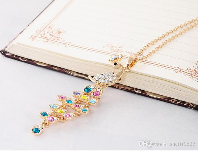 Retro Fashion Peacock Jewelry Set High Quality Necklace Earrings Sets For Wedding Best Gift Min Order 442
