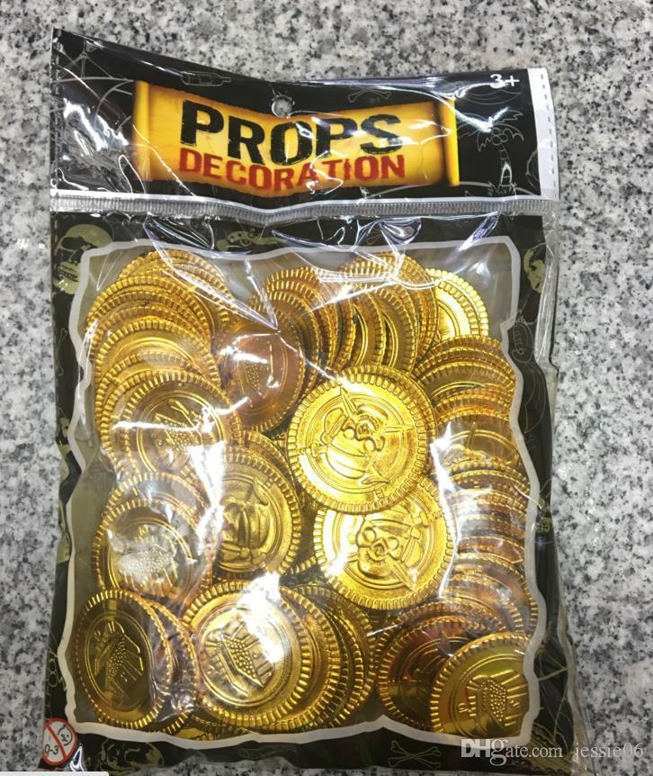 플라스틱 금 선물 생일 축하 크리스마스 보물 동전 지갑 선물 가방 선물