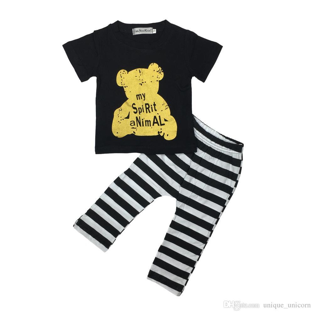 Atacado Meninos Meninas Do Bebê Roupas Infantis Roupas Impresso Crianças Roupas Conjuntos Bonito Impresso camisetas Harem Pants Leggings Set Roupas Ternos