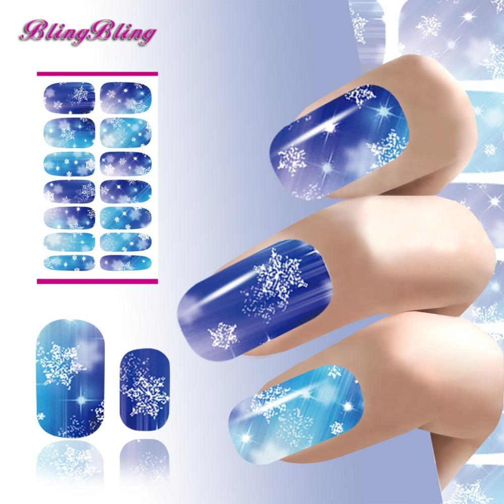 Wholesale Xmas Nail Sticker Decals Snowflake Christmas Nail Art ...