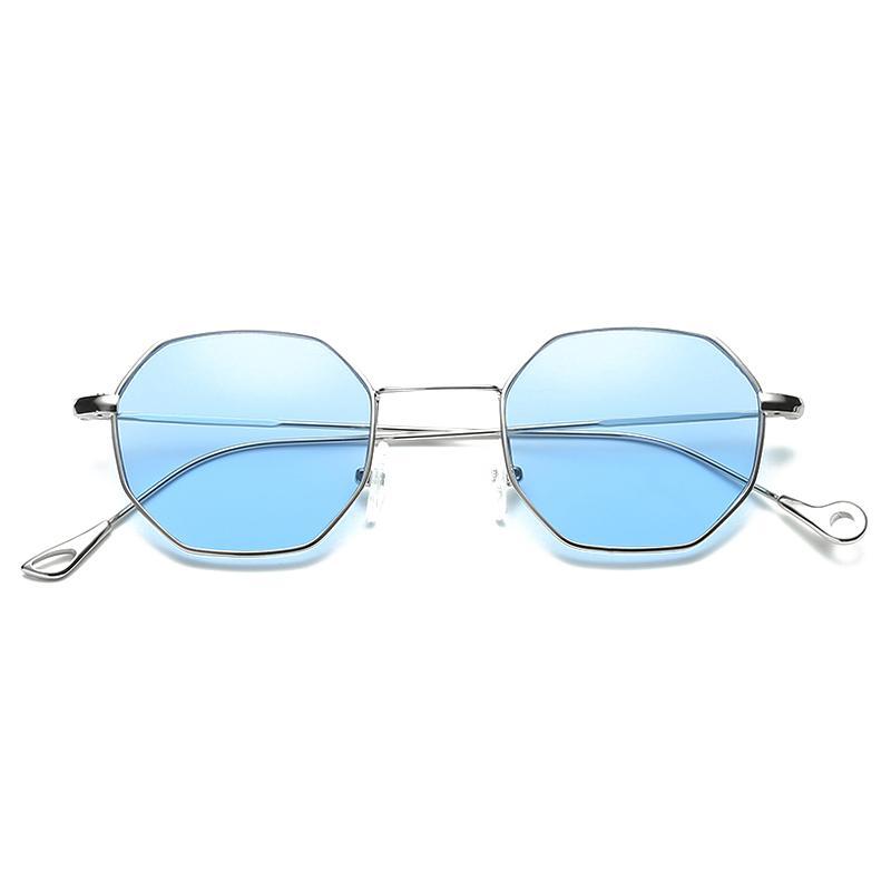 d6ba6258321 Wholesale Hexagon Square Small Style Sunglasses Women Fashion Brand Designer  Men Vintage Metal Optical Eyeglasses Frame Optical Eyewear Sunglass Cheap  ...