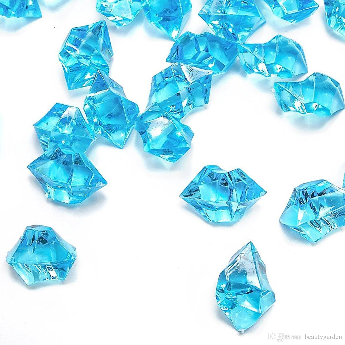 Acrylic gems ice crystal rocks for vase fillers party for Plastic gems for crafts