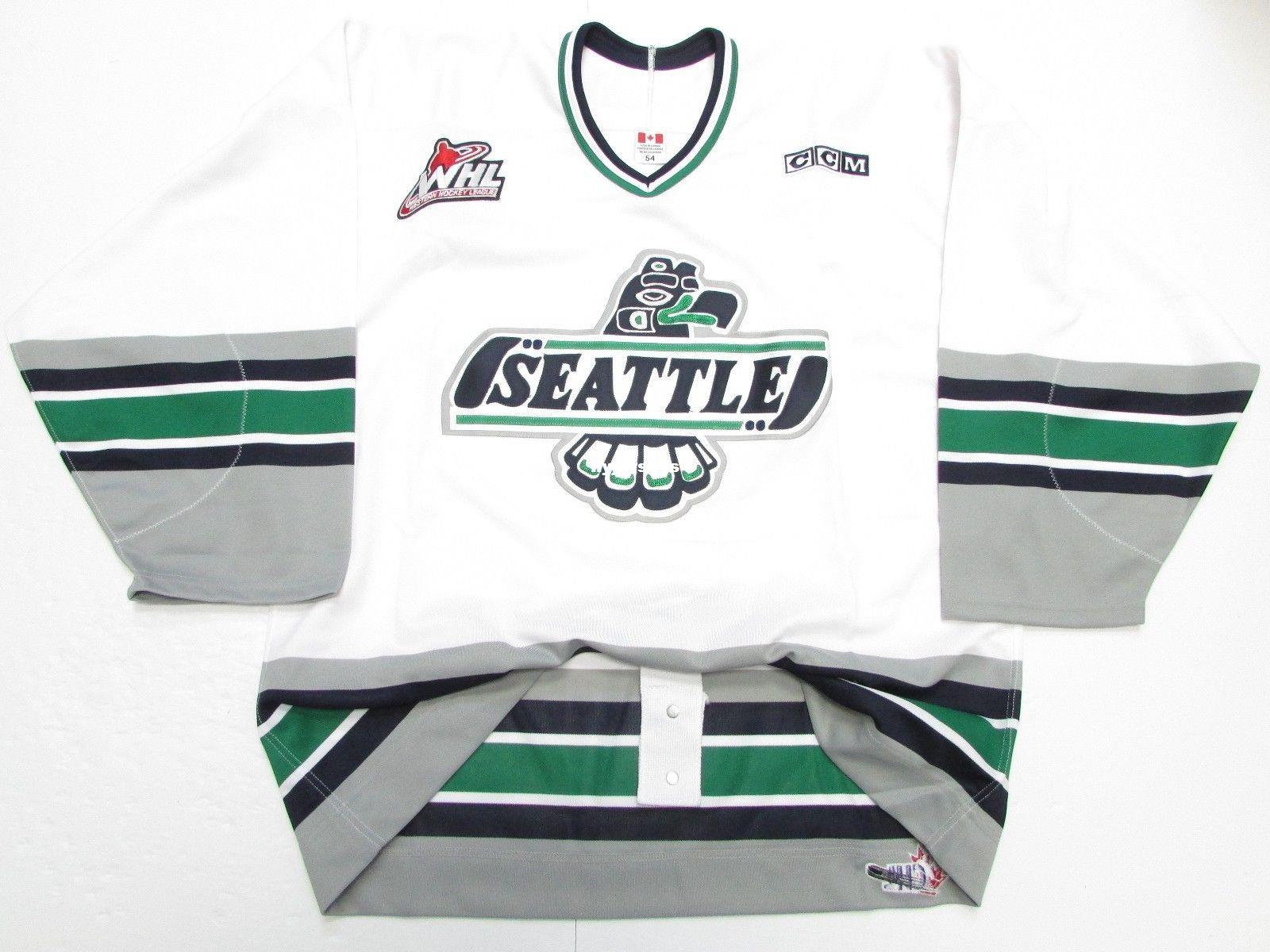Cheap Custom SEATTLE THUNDERBIRDS WHL AUTHENTIC WHITE PRO CCM HOCKEY JERSEY  Mens Jerseys UK 2019 From Hyjerseys 94c80af9e36